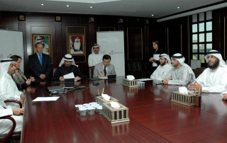 Dubai-Supreme-Council-of-Energy-Madame-Sabine-Balve-sitting-beside-of-H.E.Saeed-Al-Tayer-Offcial-MOU-for-the-World-Energy-Conference-2012-Sole-Facilated-by-Madame-Sabine-Balve