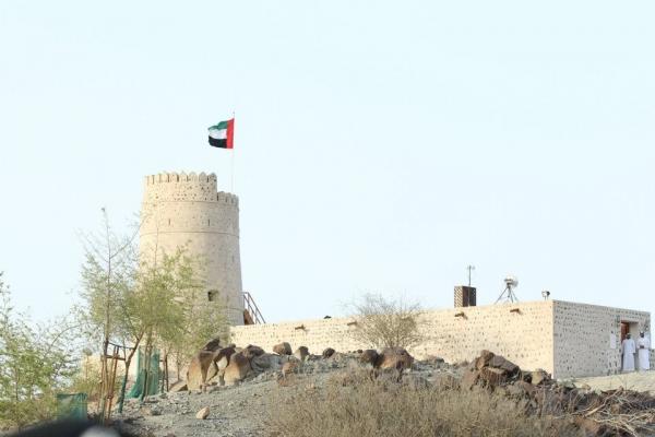 Old historical towers of the eco resort of Kalba in Sharjah UAE