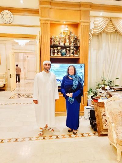 Madame-Sabine-Balve-and-HRH-Sheik-Saeed-bin-Maktoum-bin-Rashid-Al-Maktoum