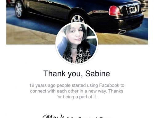 Mark Zuckerberg, Facebook Founder message to Madame Sabine Balve