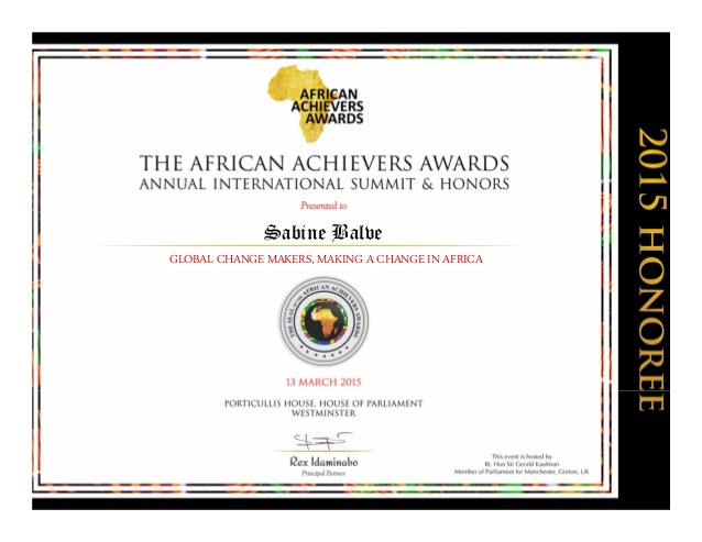 African-Achievers-Award-Honoree-Certiificate-Madame-Sabine-Balve