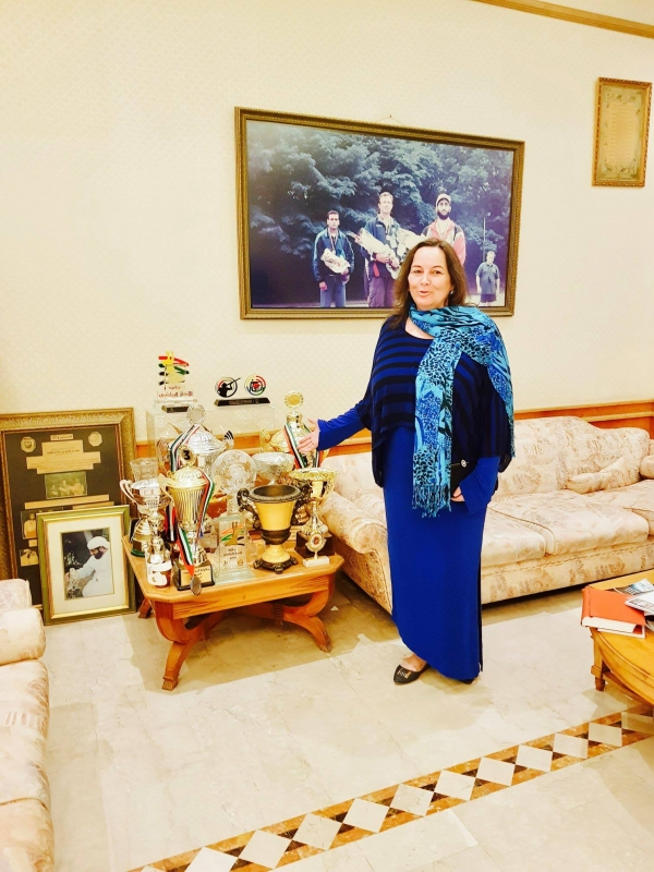 Madame-Sabine-Balve-At-Palace-Of-Royal-Leaders-of-UAE
