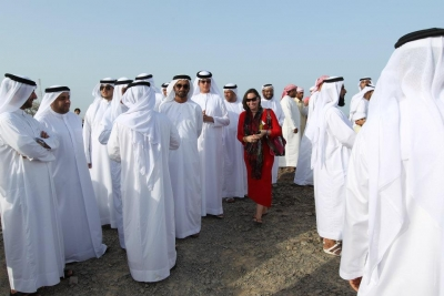 Inaugurated Kalba ECO Project, His Highness Dr. Sheik Sultan Bin Mohammed Al Qasimi with Madame Sabine Balve