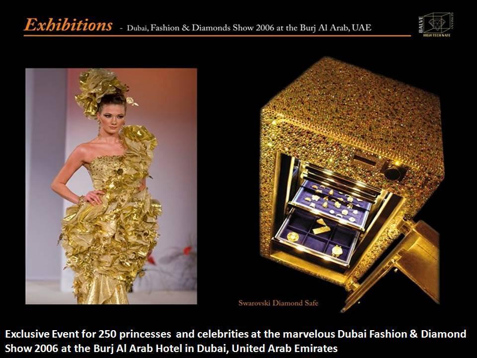 Fastion and Diamond Show 2006 At Burj Al Arab, Dubai, UAE with Madame Sabine Balve