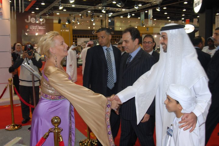 His Royal Highness Sheik Omar Al Nahyan from the UAE president family with Madame Sabine Balve (pic 1)