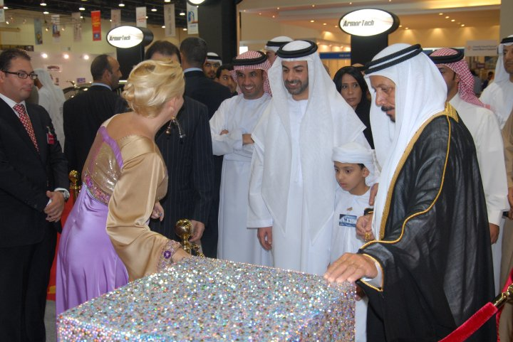 His Royal Highness Sheik Omar Al Nahyan from the UAE president family with Madame Sabine Balve (pic 2)