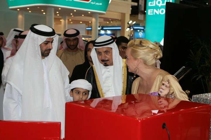 His Royal Highness Sheik Omar Al Nahyan from the UAE president family with Madame Sabine Balve (pic 3)