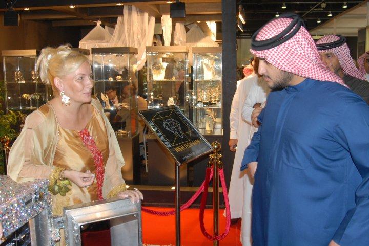 Madame Sabine Balve and the son of His Highness Sheik Mohammed bin Rashid al Maktoum - the royal leader of Dubai in UAE (0)