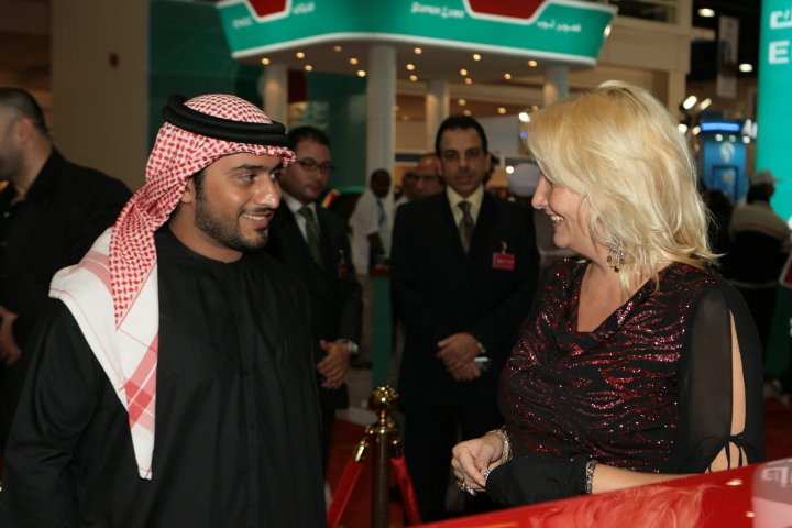 Warm welcome of Madame Sabine Balve by His Highness Sheik Nahyan from the UAE president family (2pic)
